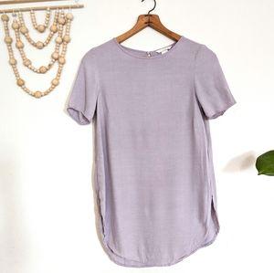 H&M Textured Pale Lavender Slit Side Tunic